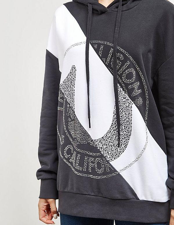 True Religion Diagonal Contrast Hoodie