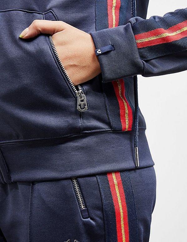 True Religion Red Stripe Full Zip Hoodie