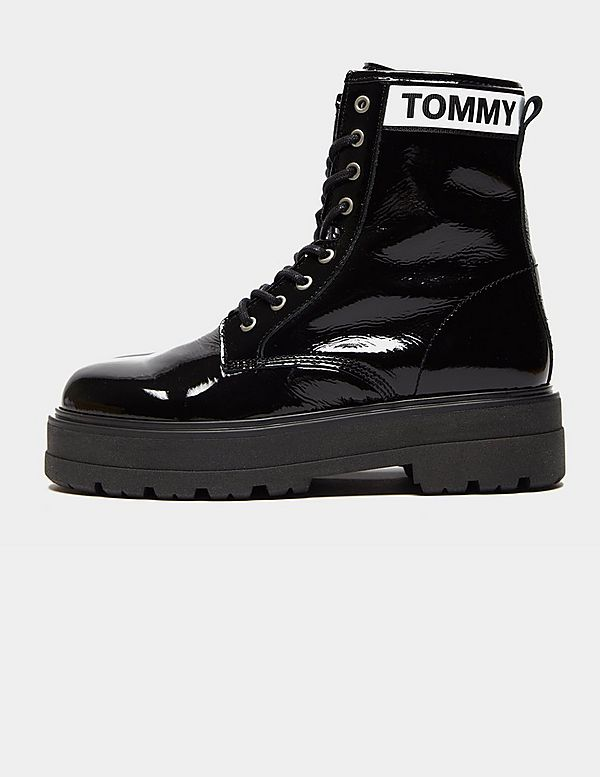 ab8a8bf36d1 Tommy Jeans Patent Platform Boots Women's   Tessuti