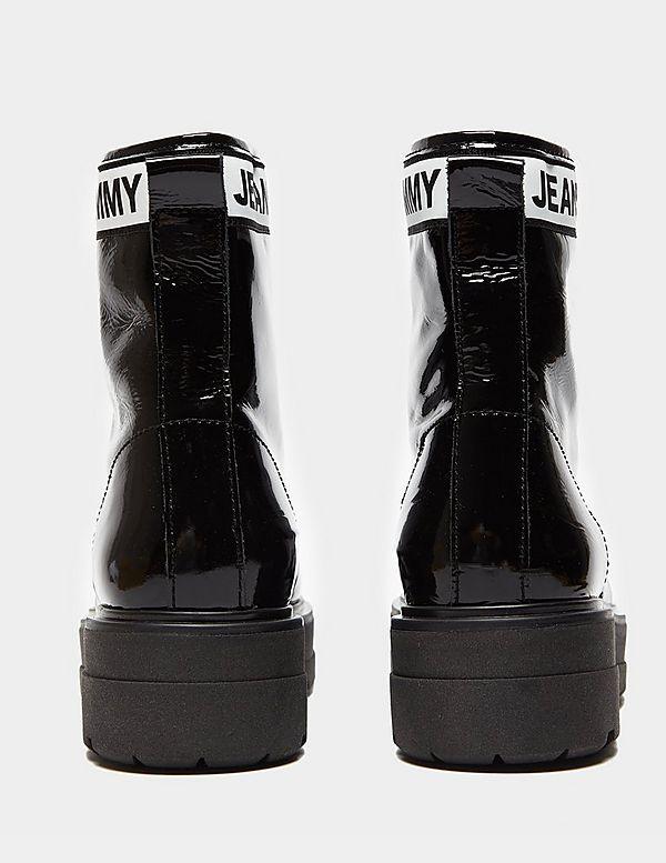 29138a8b864 Tommy Jeans Patent Platform Boots Women's | Tessuti