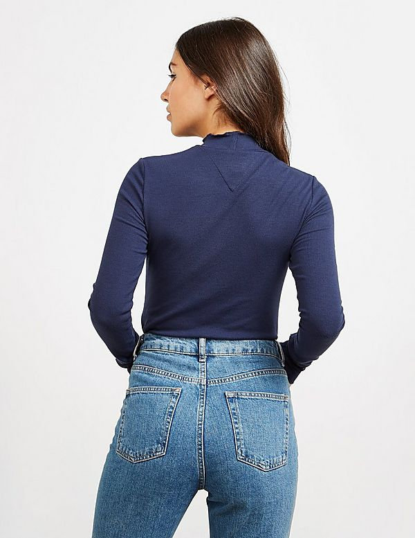 Tommy Jeans Ribbed Long Sleeve Bodysuit