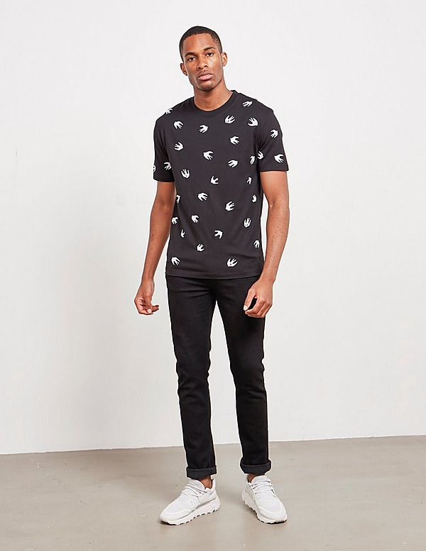 McQ All Over Swallow Short Sleeve T-Shirt