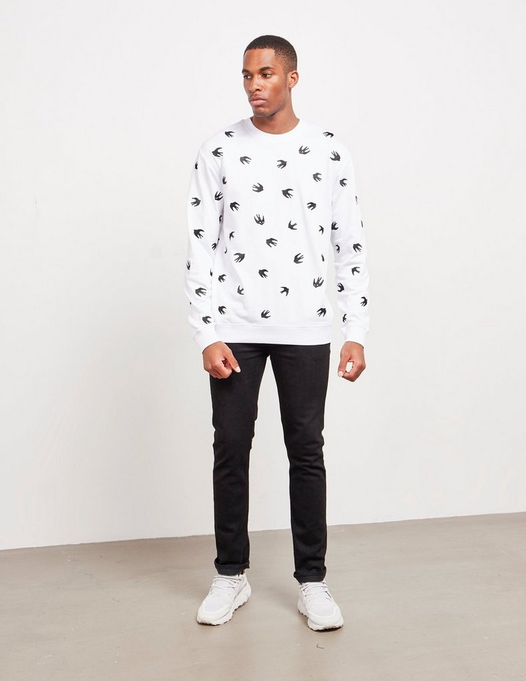 McQ Alexander McQueen All Over Swallow Sweatshirt