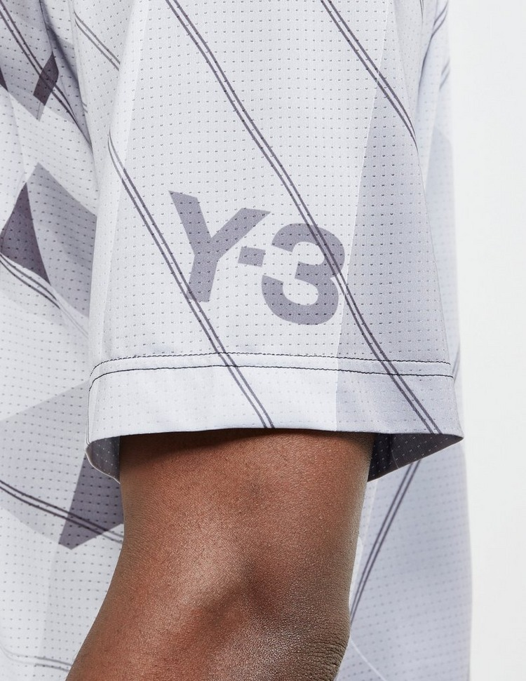 Y-3 All Over Print Short Sleeve Football T-Shirt