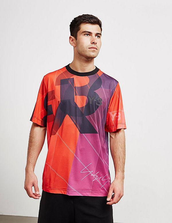 2a2a701930fbe Y-3 All Over Print Short Sleeve Football T-Shirt | Tessuti