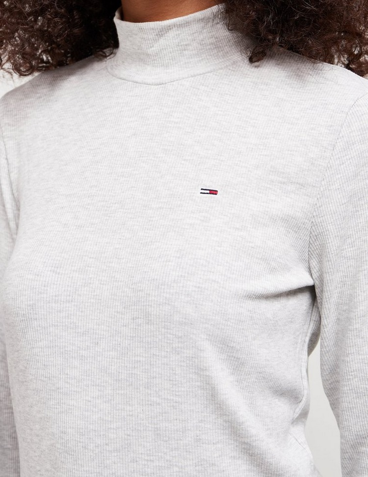 Tommy Jeans Long Sleeve Ribbed Top