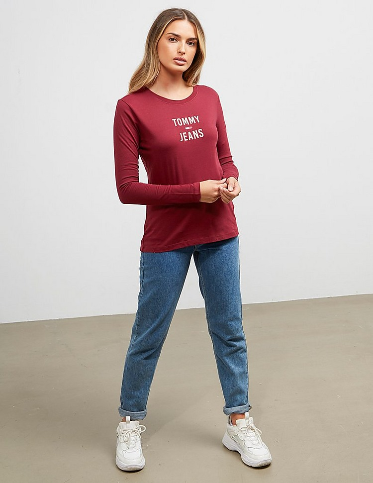 Tommy Jeans Square Logo Long Sleeve T-Shirt