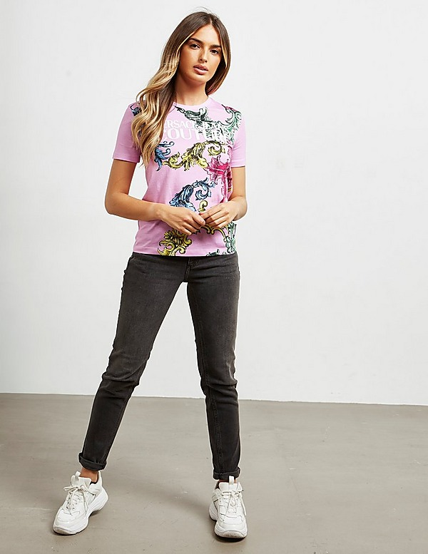 Versace Jeans Couture Floral Baroque Short Sleeve T-Shirt