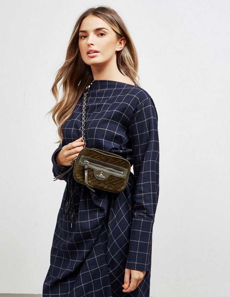 Vivienne Westwood Coventry Velvet Shoulder Bag