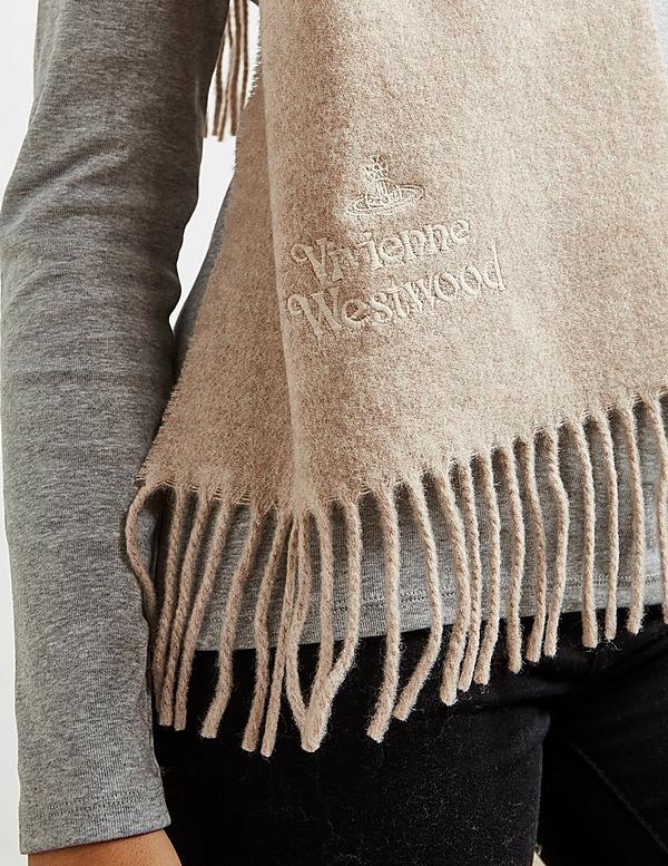 Vivienne Westwood Wool Emroidered Scarf