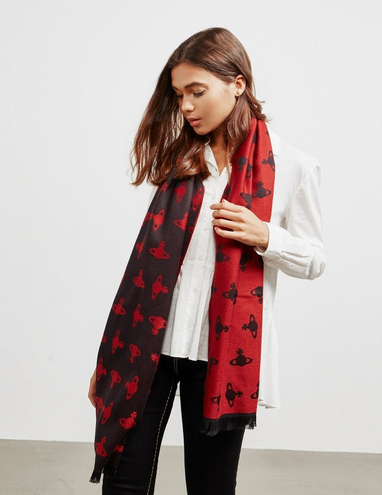 Vivienne Westwood All Over Print Wool Scarf