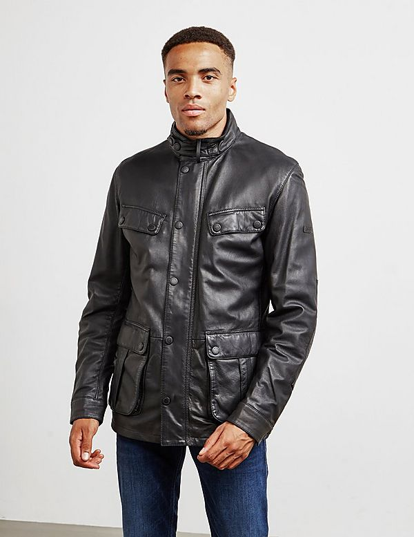 Barbour International Paul Leather Jacket