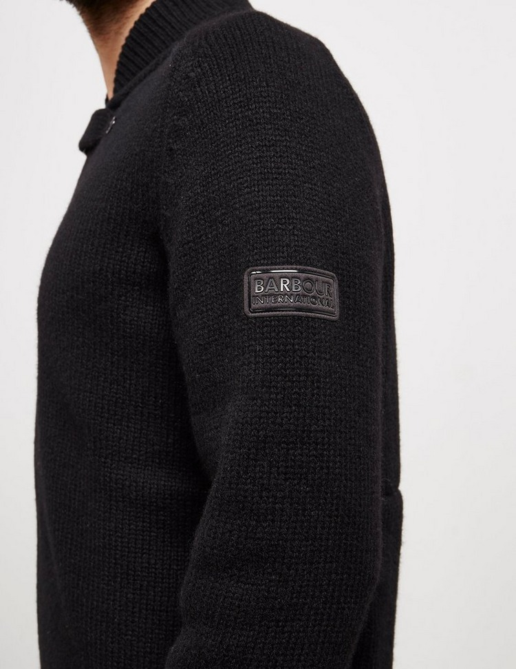 Barbour International Button Neck Knitted Jumper