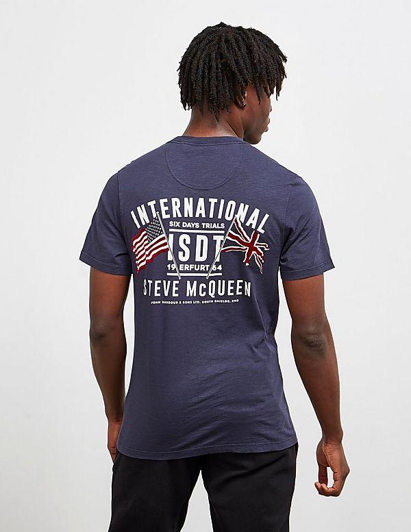 Barbour International Steve McQueen Flag Short Sleeve T-Shirt