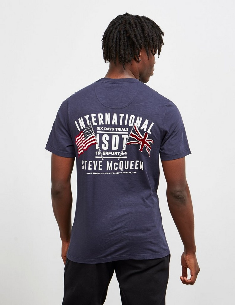 best value famous brand huge discount Barbour International Steve McQueen Flag Short Sleeve T-Shirt