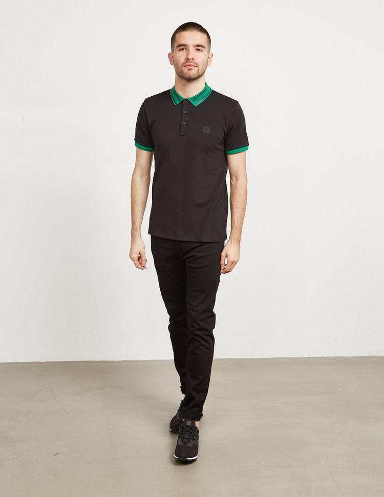 BOSS Stripe Collar Short Sleeve Polo Shirt