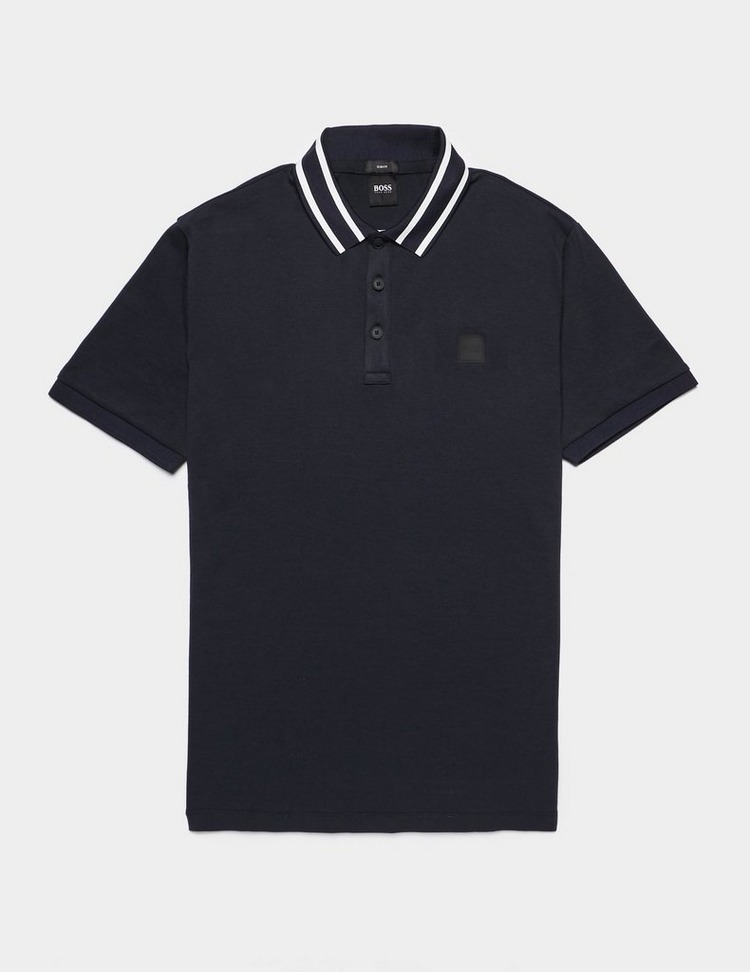 BOSS Stripe Collar Short Sleeve Polo Shirt