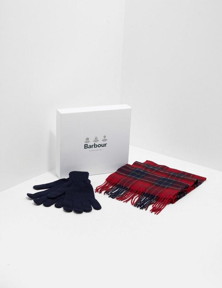 Barbour Scarf & Gloves Gift Set