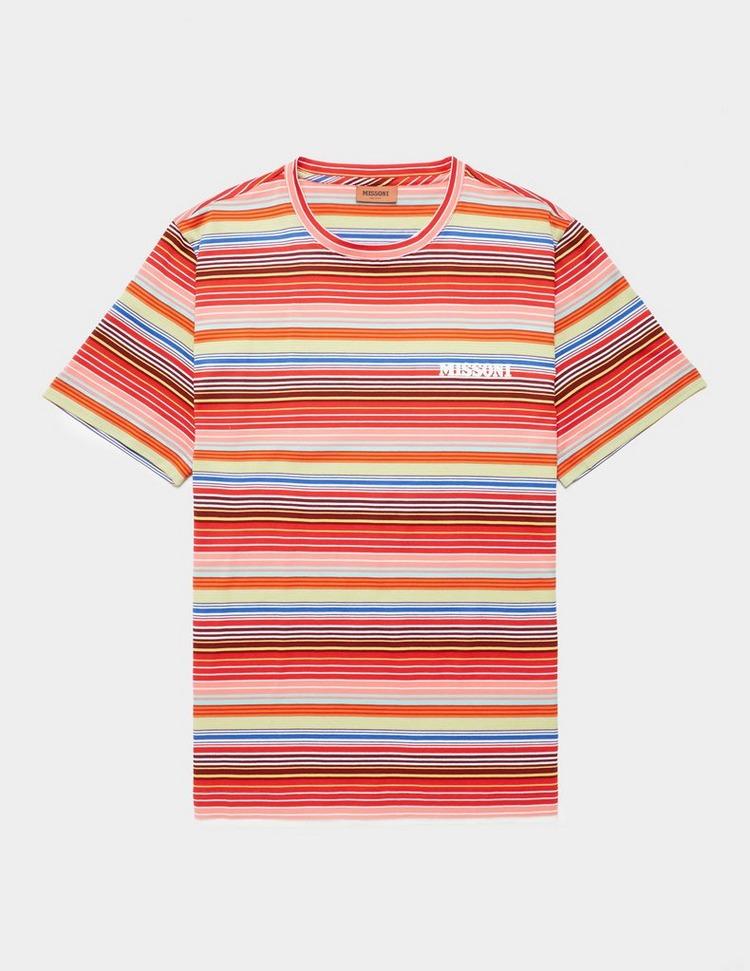 Missoni Chest Logo Short Sleeve Stripe T-Shirt