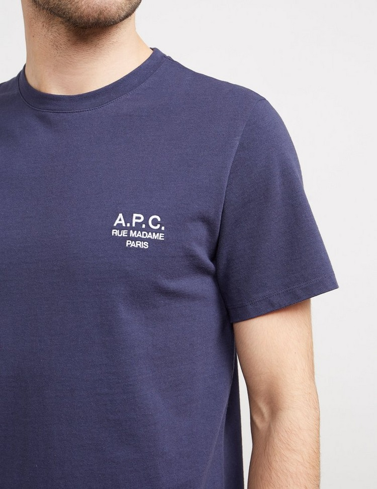 A.P.C Embroidered Logo Short Sleeve T-Shirt