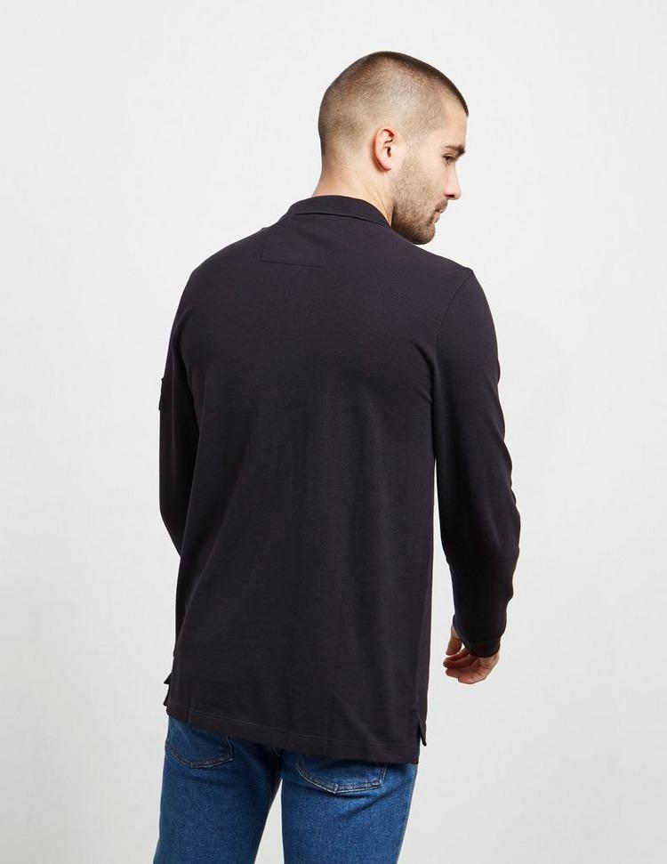 Calvin Klein Jeans Monogram Badge Long Sleeve Polo Shirt