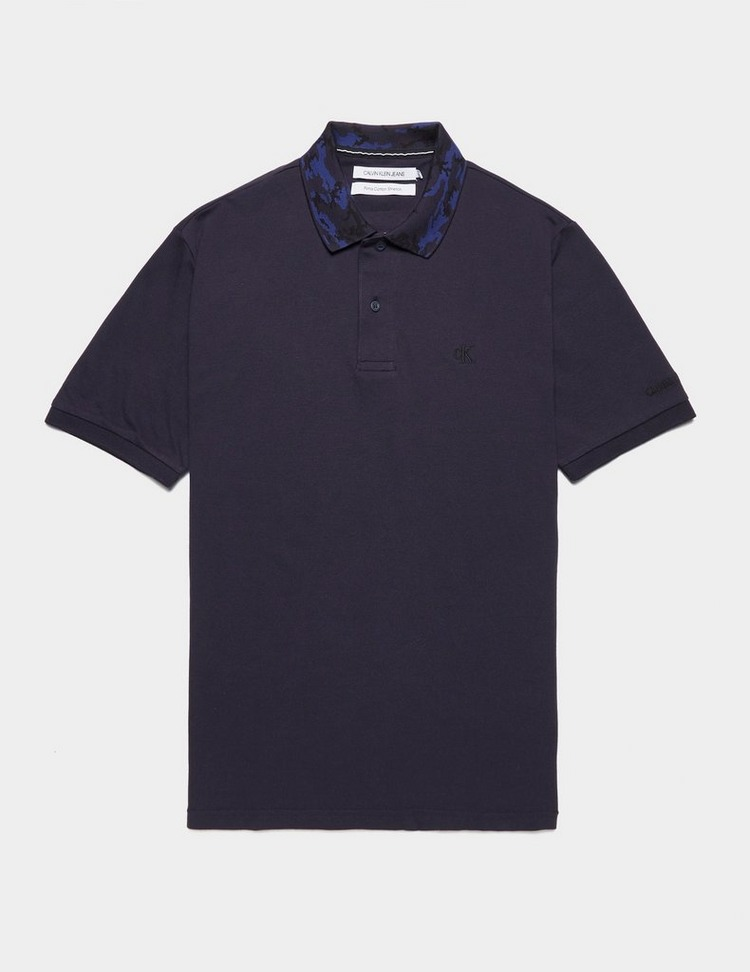 Calvin Klein Jeans Camouflage Collar Short Sleeve Polo Shirt
