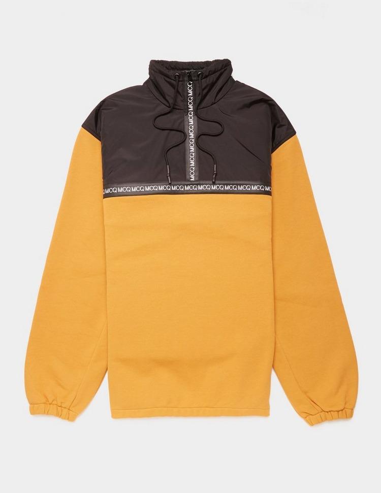 McQ Alexander McQueen Tape Quarter Zip Sweatshirt