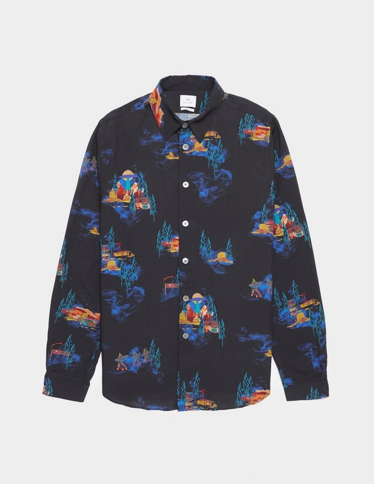 PS Paul Smith UFO Print Long Sleeve Shirt