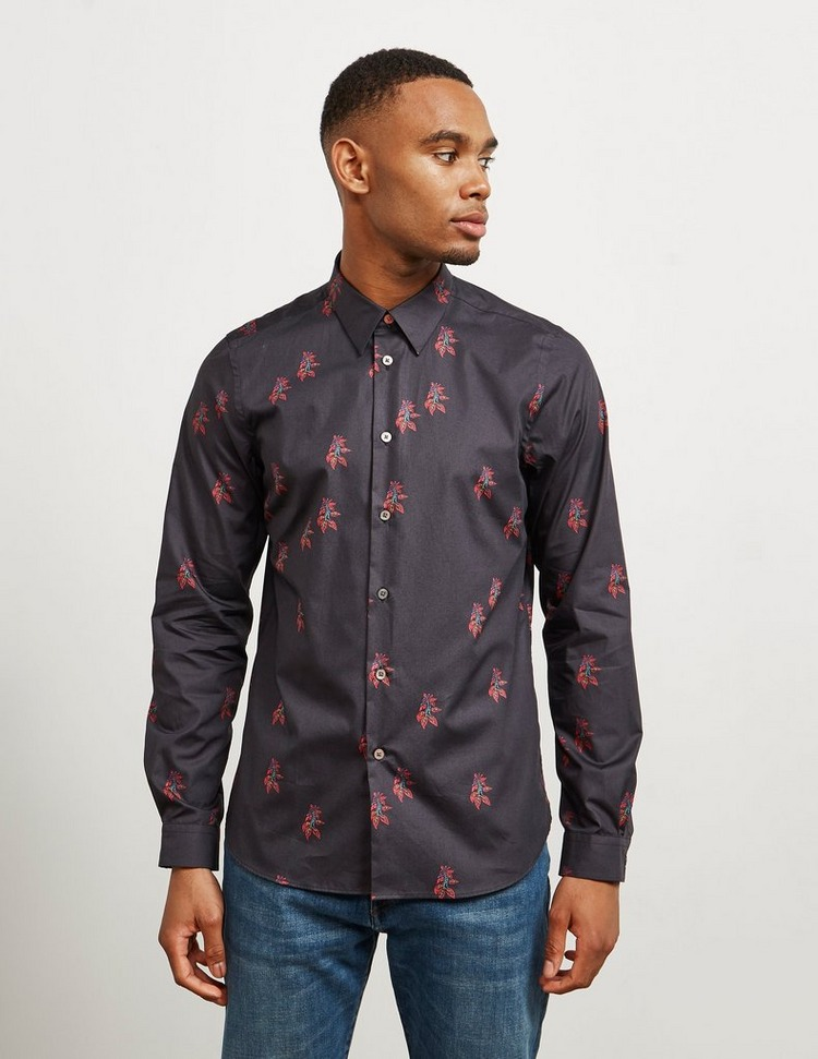 PS Paul Smith Japanese Floral Long Sleeve Shirt