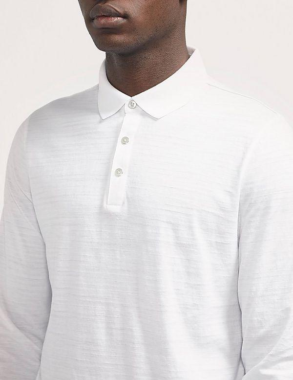 c58edfcc Michael Kors Striped Long Sleeve Polo Shirt   Tessuti