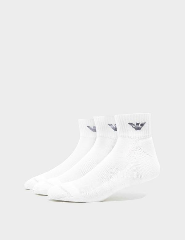 Emporio Armani Loungewear 3-Pack Ankle Socks