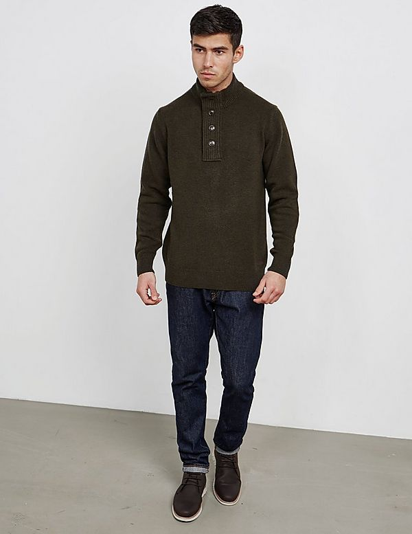 Barbour Button Neck Knitted Jumper