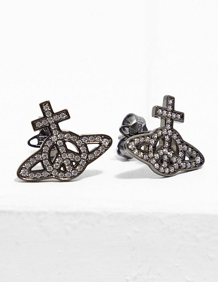 Vivienne Westwood Peace Pave Earrings