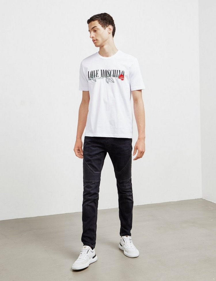 Love Moschino Rose Short Sleeve T-Shirt