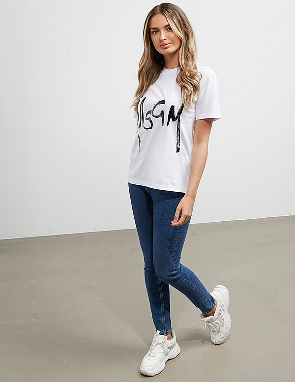 MSGM Signature Logo Short Sleeve T-Shirt