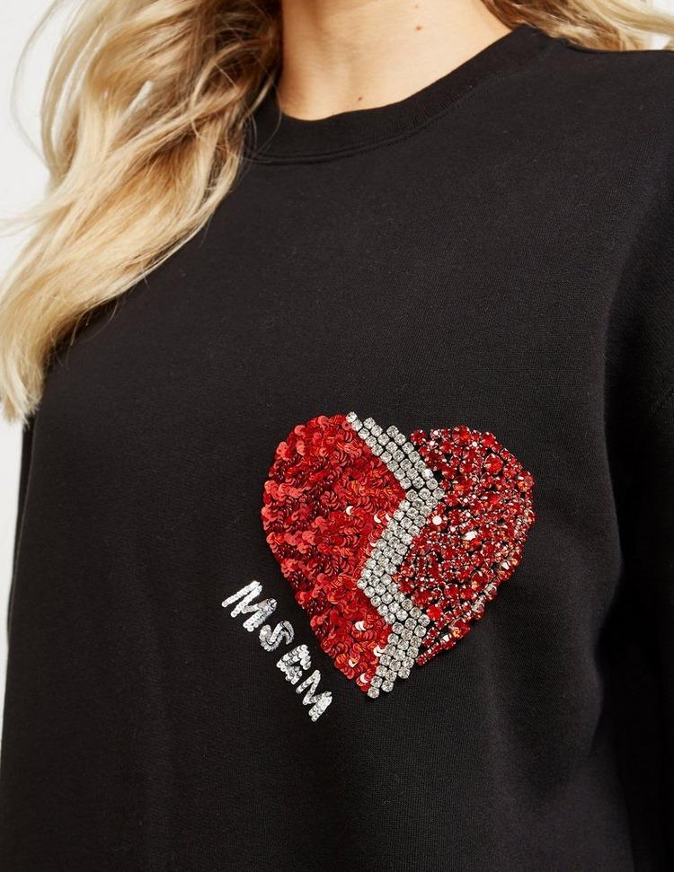 MSGM Glitter Heart Sweatshirt