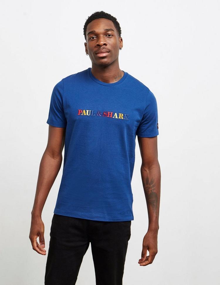 Paul and Shark Multicoloured Logo Short Sleeve T-Shirt