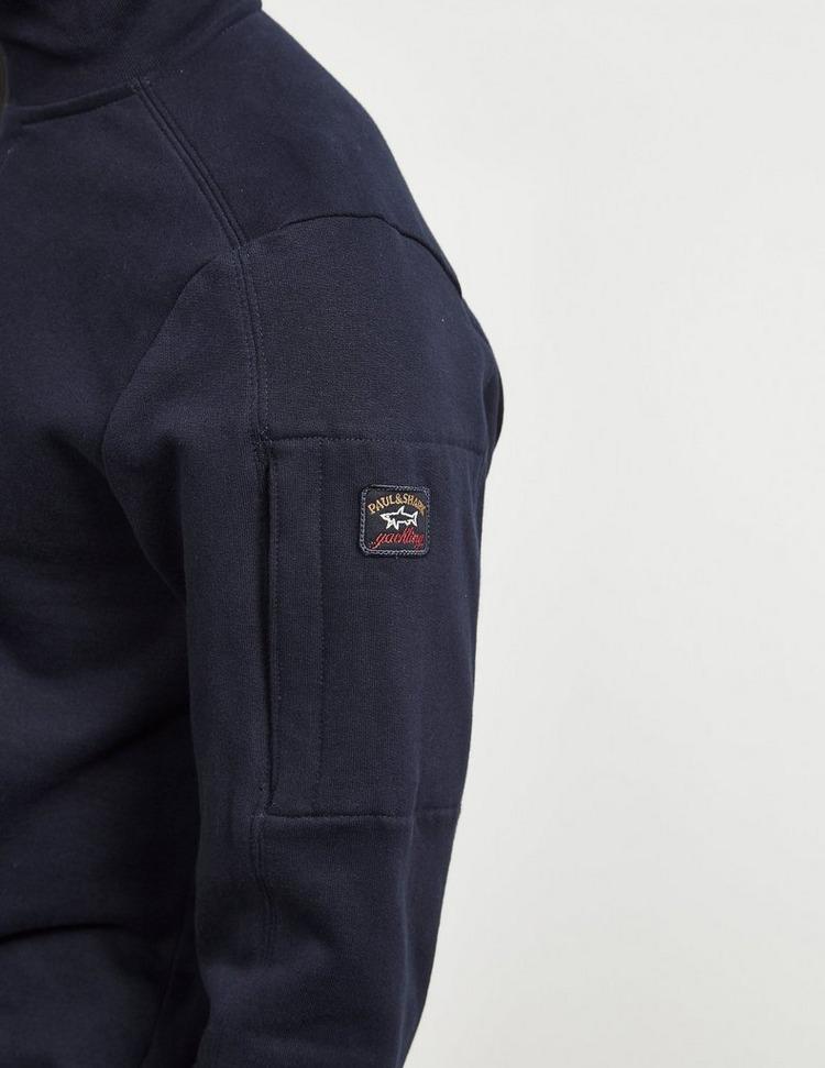 Paul and Shark Half Zip Sleeve Logo Sweatshirt