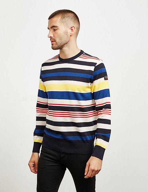 Paul and Shark Stripe Knitted Sweatshirt