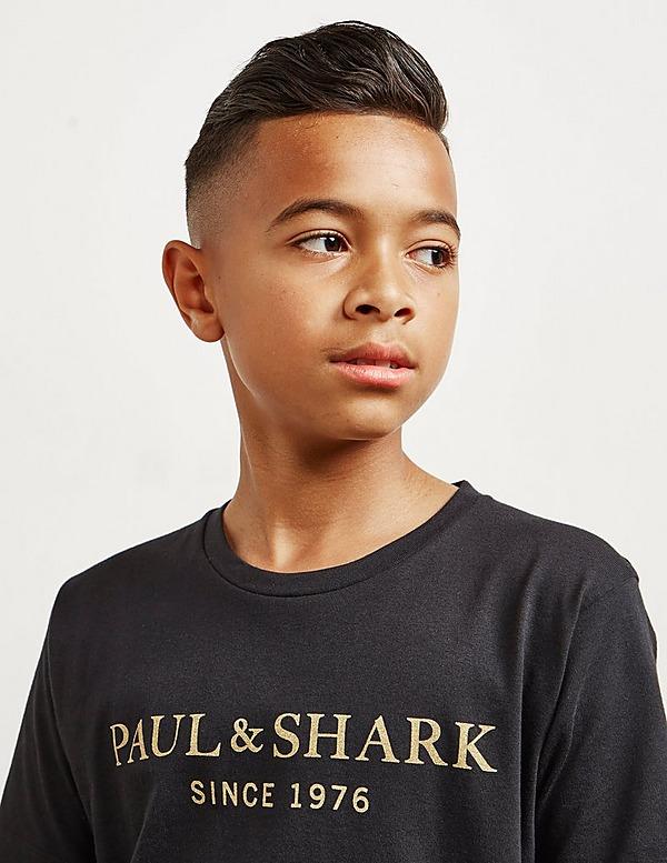 Paul and Shark Gold Logo Short Sleeve T-Shirt