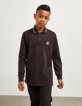 Stone Island Junior Tipped Long Sleeve Polo Shirt