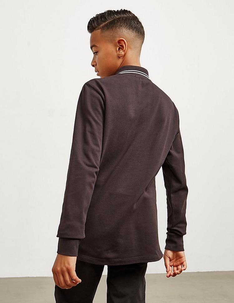 Stone Island Tipped Long Sleeve Polo Shirt
