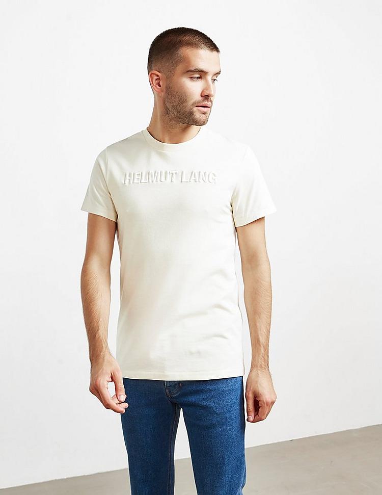 Helmut Lang Embroidered Logo Short Sleeve T-Shirt