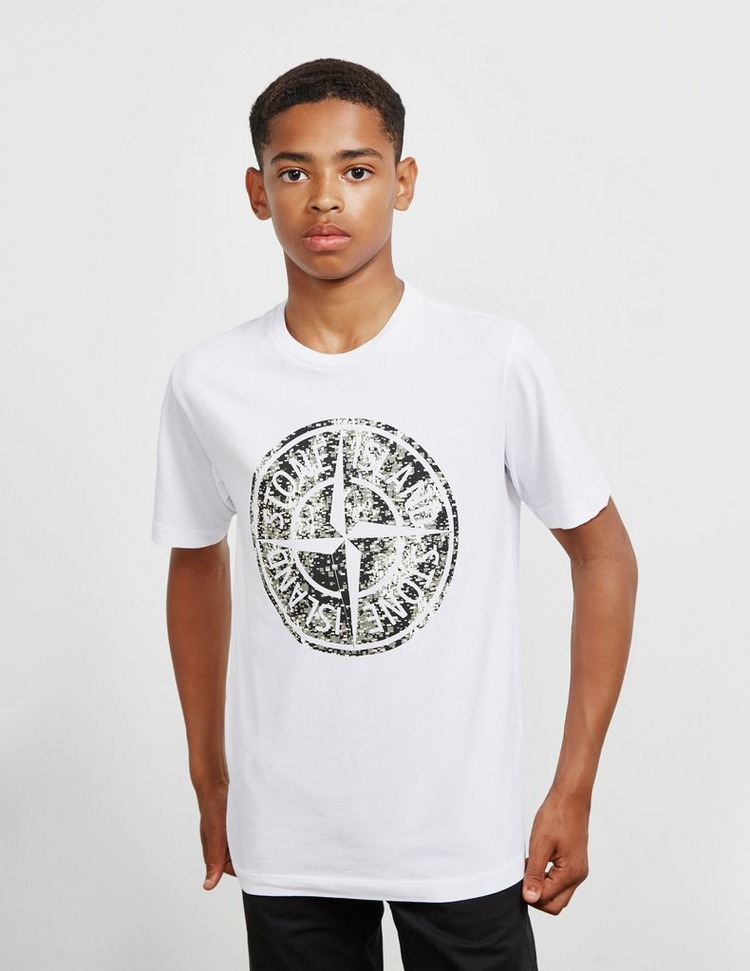 Stone Island Junior Camo Pin Short Sleeve T-Shirt