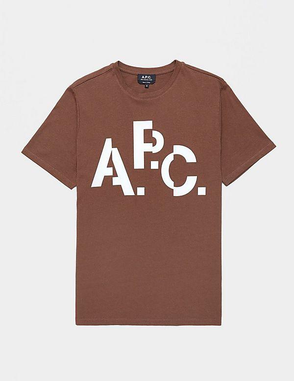 A.P.C Cut Logo Short Sleeve T-Shirt