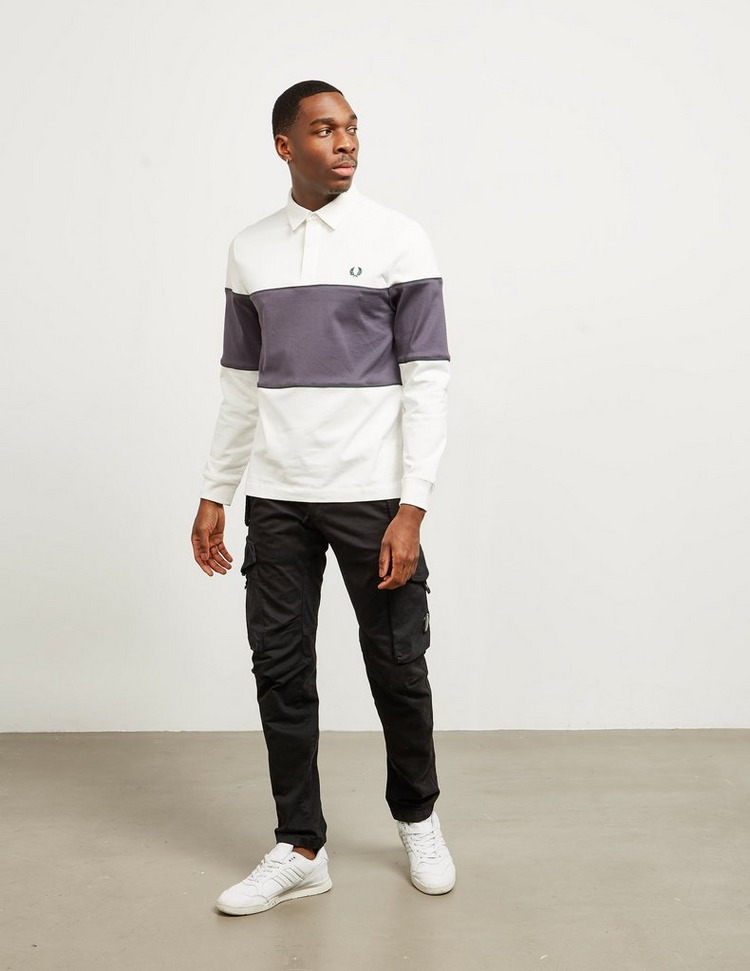 Fred Perry Long Sleeve Panel Polo Shirt