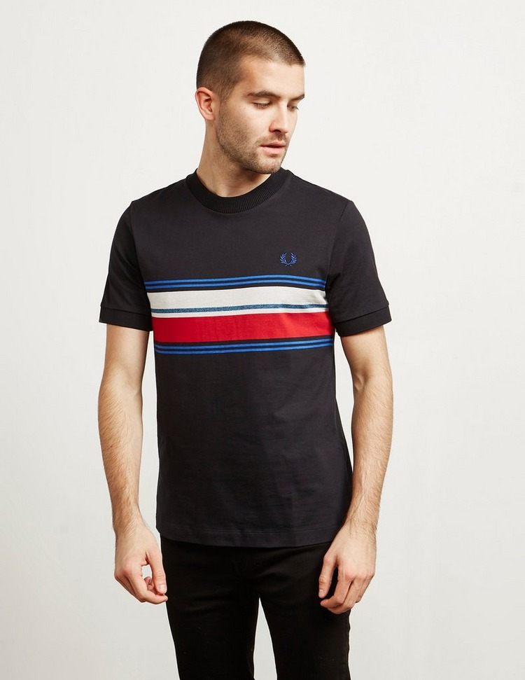 Fred Perry Marl Stripe Short Sleeve T-Shirt