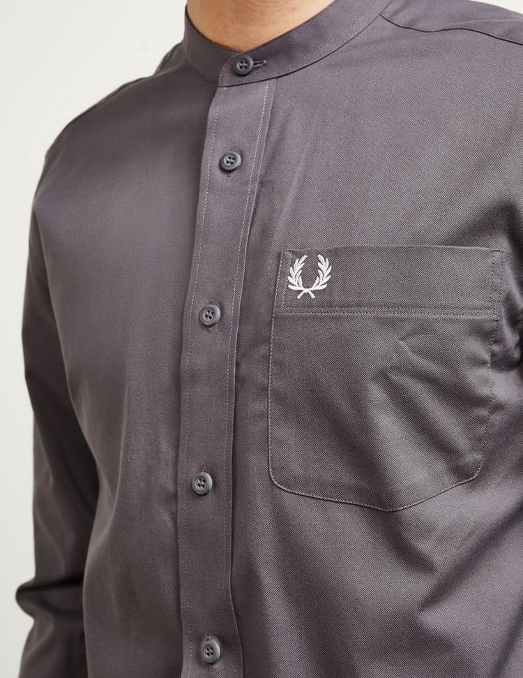Fred Perry Grandad Collar Long Sleeve Shirt