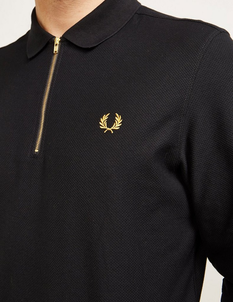 Fred Perry Night Long Sleeve Zip Polo Shirt - Exclusive