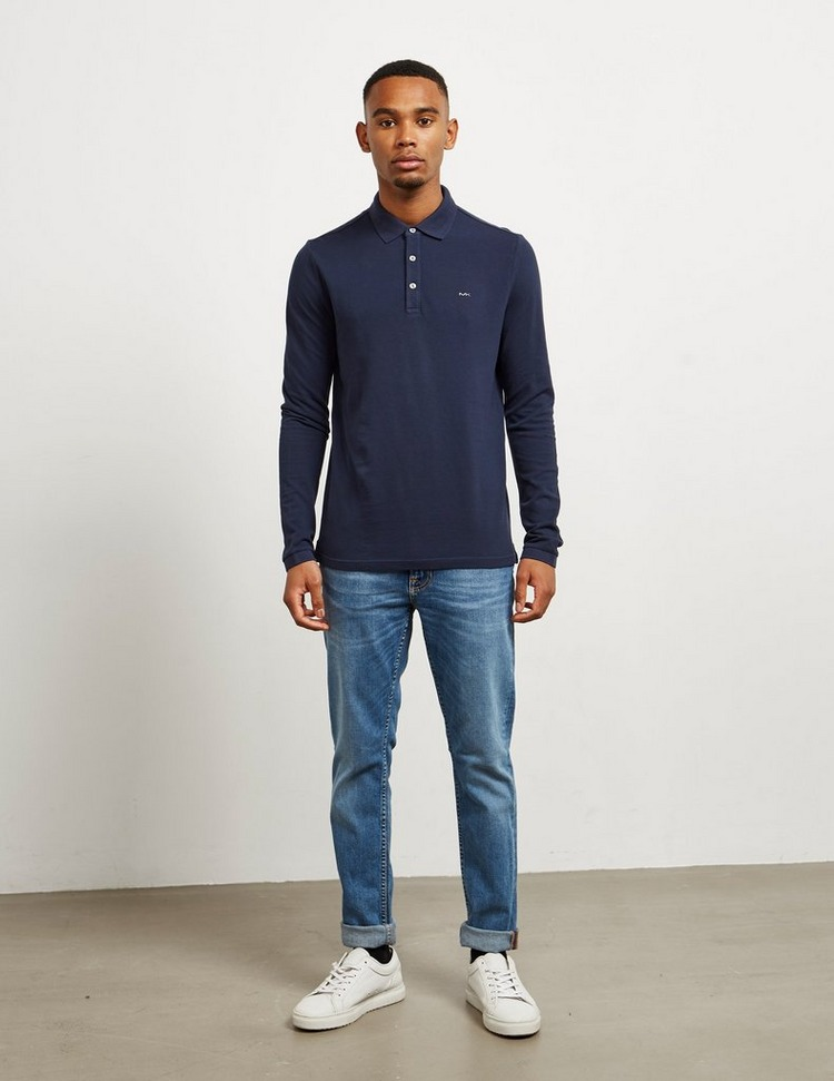 Michael Kors Pique Long Sleeve Polo Shirt